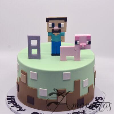 Minecraft cake NC08 Amarantos Cakes