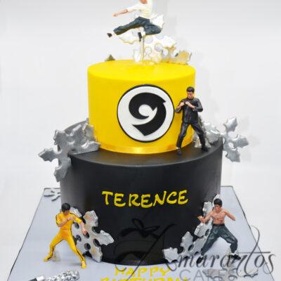 Karate Bruce Lee cake - NC102