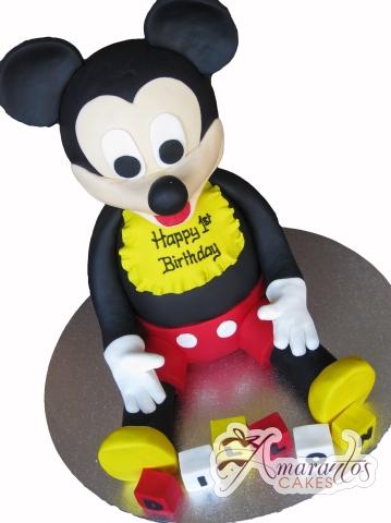 3D Mickey Mouse Cake - Amarantos Designer Cakes Melbourne