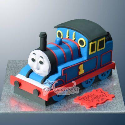 3D Thomas the Tank Cake - Amarantos Cakes - NC11