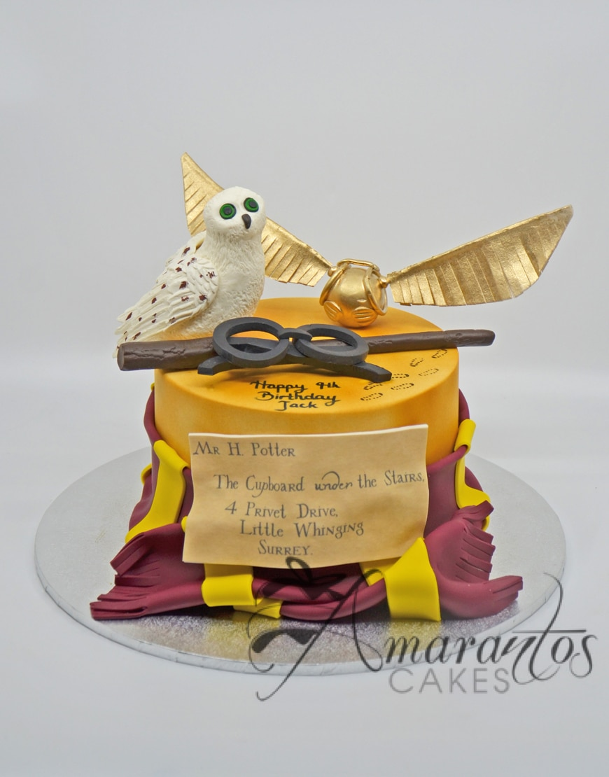 Harry Potter Themed Cake NC127 - Amarantos Designer Cakes Melbourne