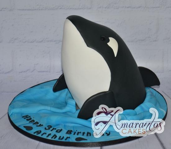 3D Orca Whale Cake - Amarantos Designer Cakes Melbourne