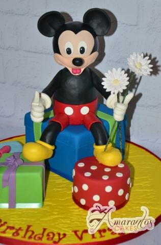 3D Mickey and Presents Cake - Amarantos Custom Made Cakes Melbourne