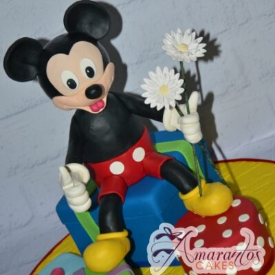 3D Mickey and Presents Cake - Amarantos Designer Cakes Melbourne