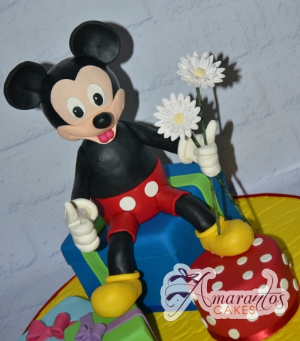 3D Mickey and Presents Cake - Amarantos Designer Cakes Melbourne