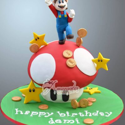 Super Mario themed cake - NC133