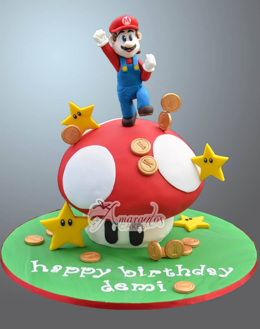 Super Mario themed cake - NC133