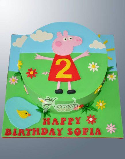 Peppa Pig Birthday Cake - NC140 - Amarantos Cakes