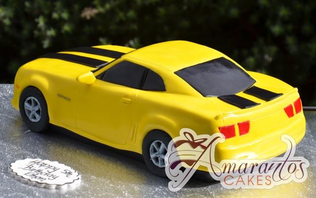 3D Camaro Bumblebee Cake - Amarantos Designer Cakes Melbourne