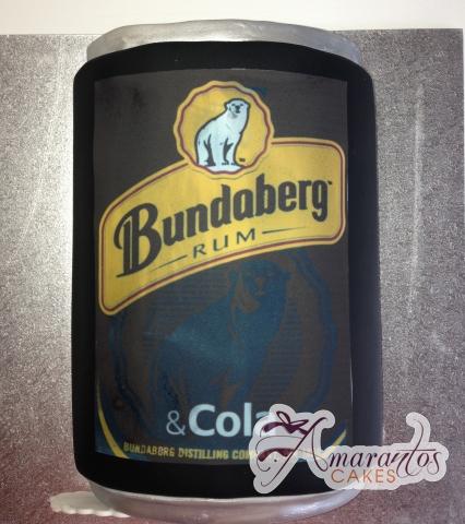 Bundaberg Rum Can Cake - Amarantos Designer Cakes Melbourne