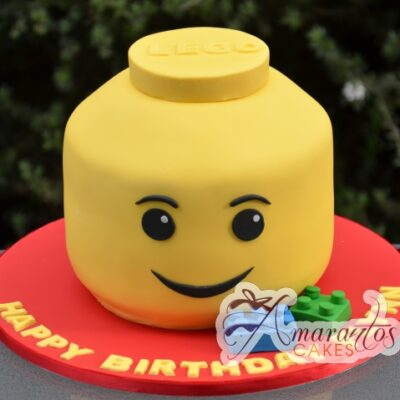 Lego head cake - Amarantos Designer Cakes Melbourne
