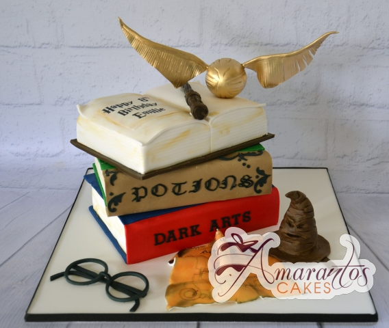 Harry Potter Themed 3D Cake - Amarantos Designer Cakes Melbourne