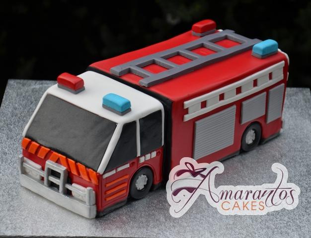 3D Fire Fighters Cake - Amarantos Cakes Melbourne