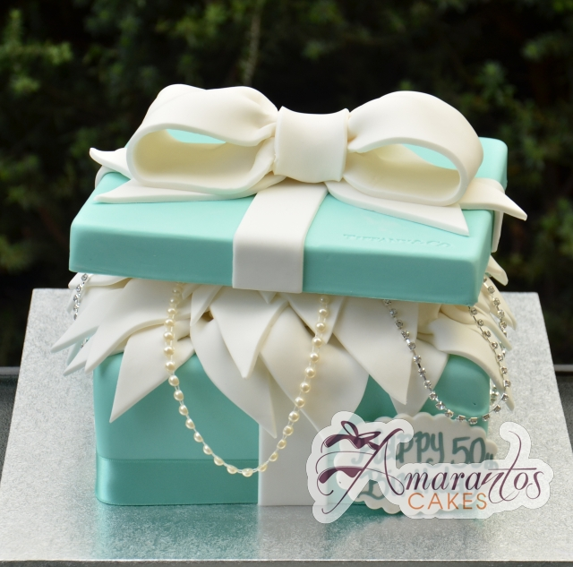 Tiffany Jewellery Box Cake - Amarantos Designer Cakes Melbourne