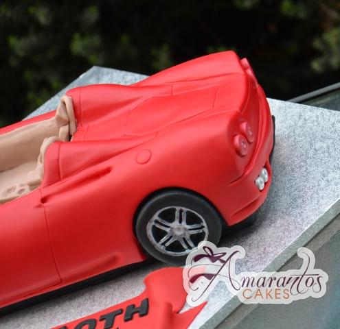 3D Ferrari Convertible Cake - Amarantos Designer Cakes Melbourne