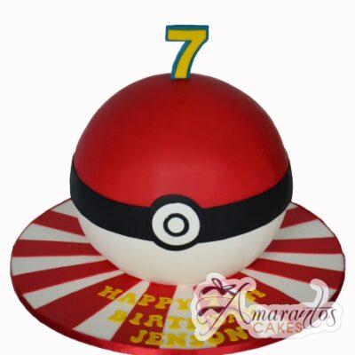 3d Pokemon Ball cake NC269