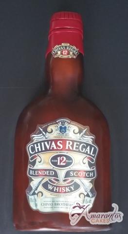 Chivas Regal Whiskey Bottle Cake - Amarantos Designer Cakes Melbourne