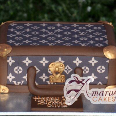 LV Suitcase - Amarantos Cakes Melbourne