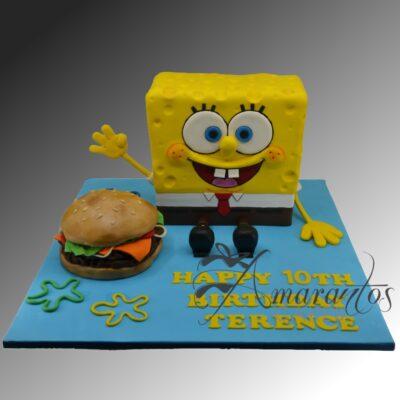 3D Sponge Bob Cake - NC290 - Amarantos Cakes Melbourne