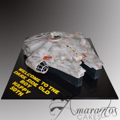 3D Millenium Falcon cake NC324