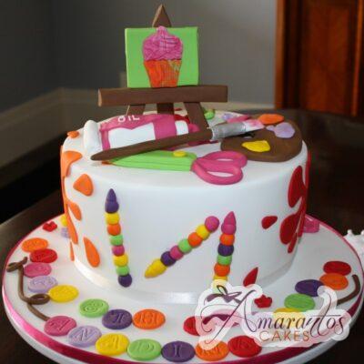Art & Craft Cake - NC325 - Amarantos Cakes Melbourne