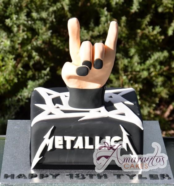 Metallica Cake - NC330 - Amarantos Cakes Melbourne