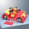 NC332 3D Big Red Car with Wiggles