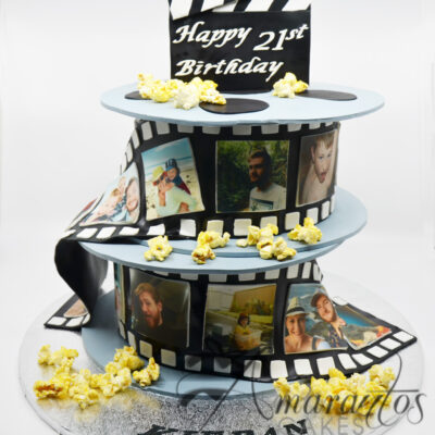 Two tier Film Reel Cake- NC333