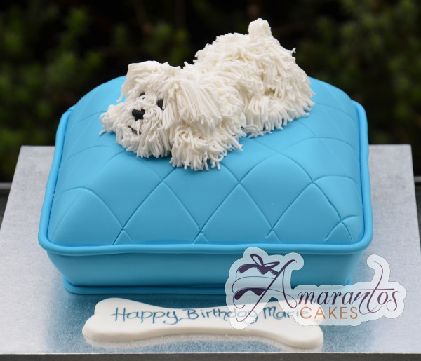 Pillow cake with puppy NC335