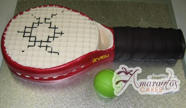 Tennis Racquet - Amarantos Cakes Melbourne