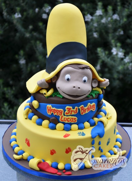 Two tier Curios George- NC341