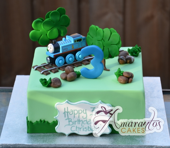 Thomas the Tank Engine 3D Cake - Amarantos Cakes Melbourne