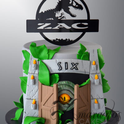 Two tier Jurassic Park Cake - NC358