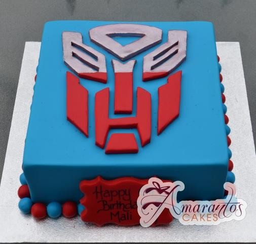 Square with Logo Birthday Cake - Amarantos Cakes Melbourne