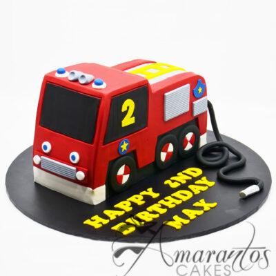 3D Fire Truck Birthday Cake - Amarantos Designer Cakes Melbourne