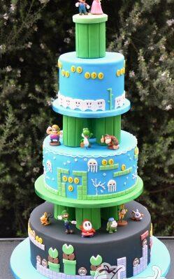 3 Tier Super Mario Cake - Amarantos Cakes Melbourne