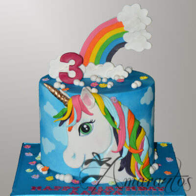 Unicorn Cake - NC381 - Amarantos Cakes Melbourne