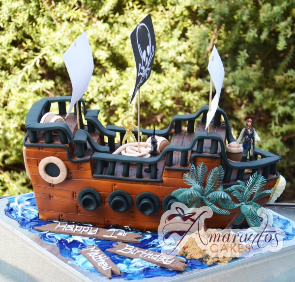 3D Pirate Ship- Amarantos Cakes Melbourne