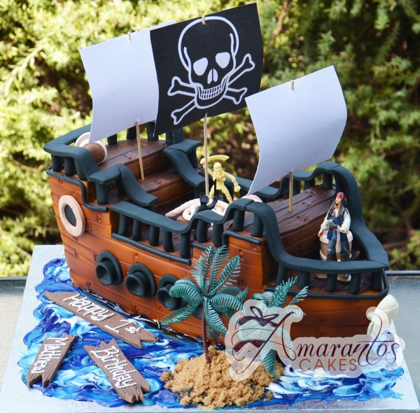 3D Pirates of the Caribbean Cake - Amarantos Designer Cakes Melbourne