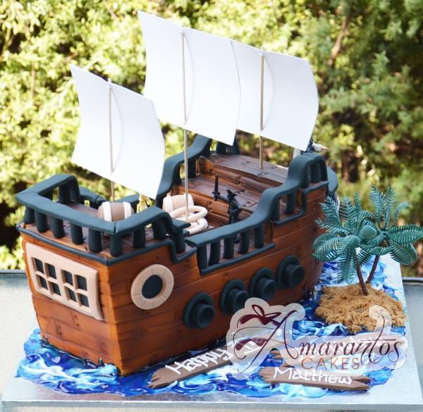 3D Ship Wreck Cake - Amarantos Designer Cakes Melbourne