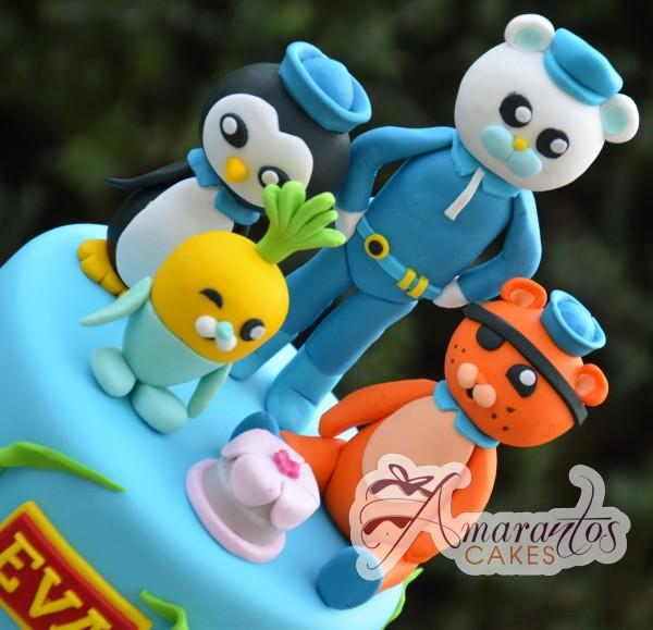 Two tier Octonauts cake - Amarantos Cakes Melbourne
