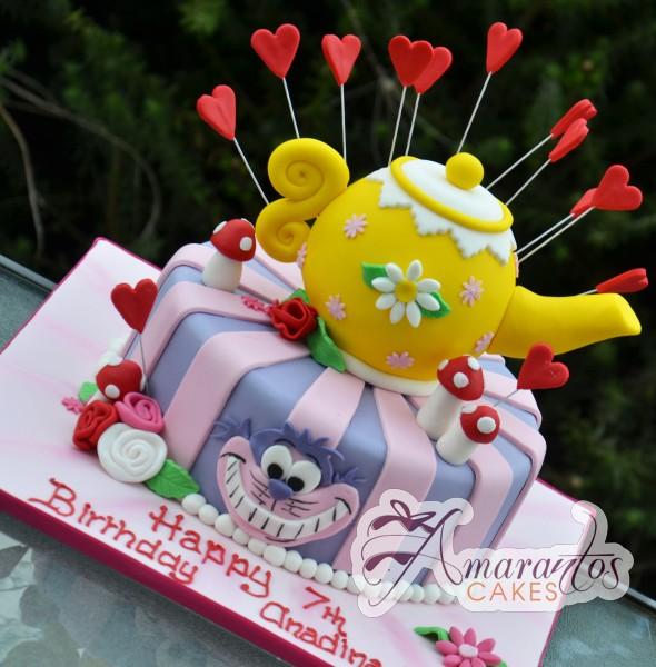 Mad Hatter Tea Party Nc404 Amarantos Cakes