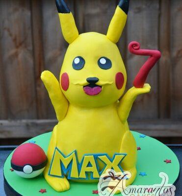 3D Pikachu Cake - Amarantos Celebration Cakes Melbourne