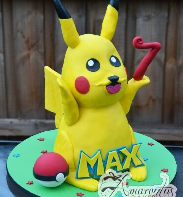 3D Pikachu Cake - Amarantos Designer Cakes Melbourne