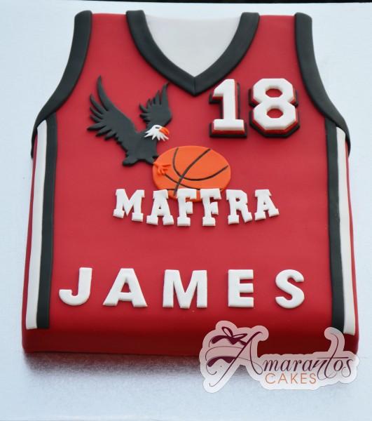 Basketball Jersey - Amarantos Cakes Melbourne
