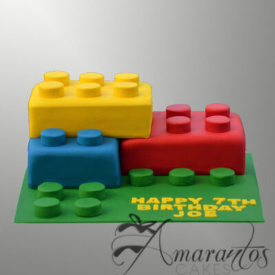 Lego Blocks Cake NC446 Amarantos Cakes Melbourne