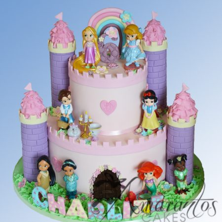 Two tier Princess Castle Cake – NC447