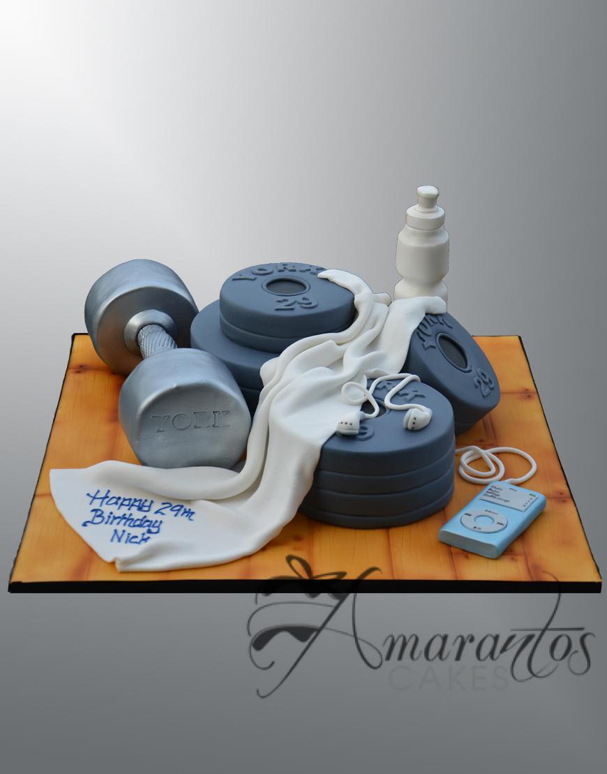 Gym Themed cake - NC451 - Amarantos cakes