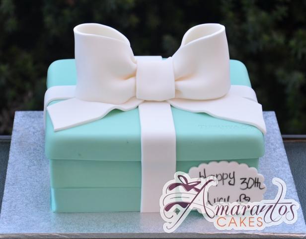 Tiffany Box 3D Cake - Amarantos Cakes Melbourne