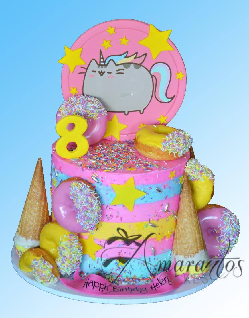Two tier Pusheen Cake - NC462